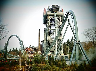 Efteling - Baron 1898 - Newly built dive coaster