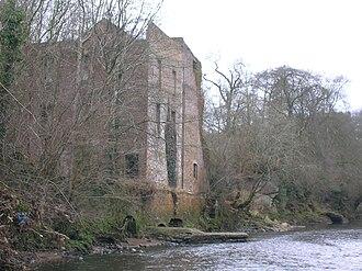 Mauchline - Barskimming Mill ruins, River Ayr.