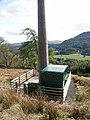 Base of a telecommunications mast on the Dunira Estate - geograph.org.uk - 1582671.jpg
