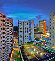 Basketball court amidst HDB flats in Chinatown, Singapore - 20130209.jpg