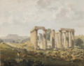 Bassae Temple of Apollo by John Foster 1820.png