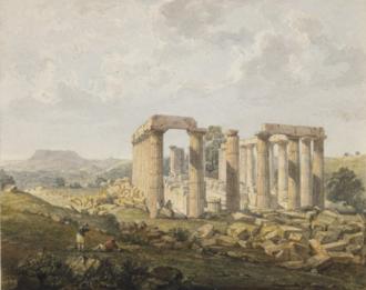 John Foster (architect) - Bassae Temple of Apollo by John Foster 1820