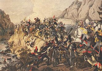 Battle of the Katzbach - Battle of Katzbach by Klein. Prussian troops force the French into the river.