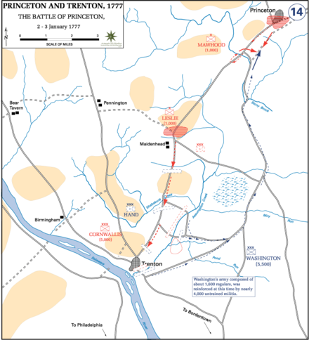 The Battle of Princeton, January 2–3, 1777