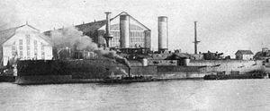 Petropavlovsk-class battleship - Petropavlovsk fitting out, 1896