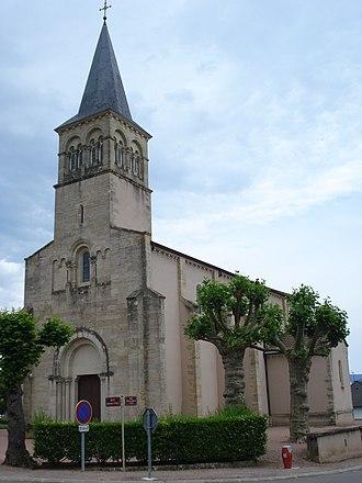 Baudemont - Image: Baudemont (Saône et Loire, Fr), l'église