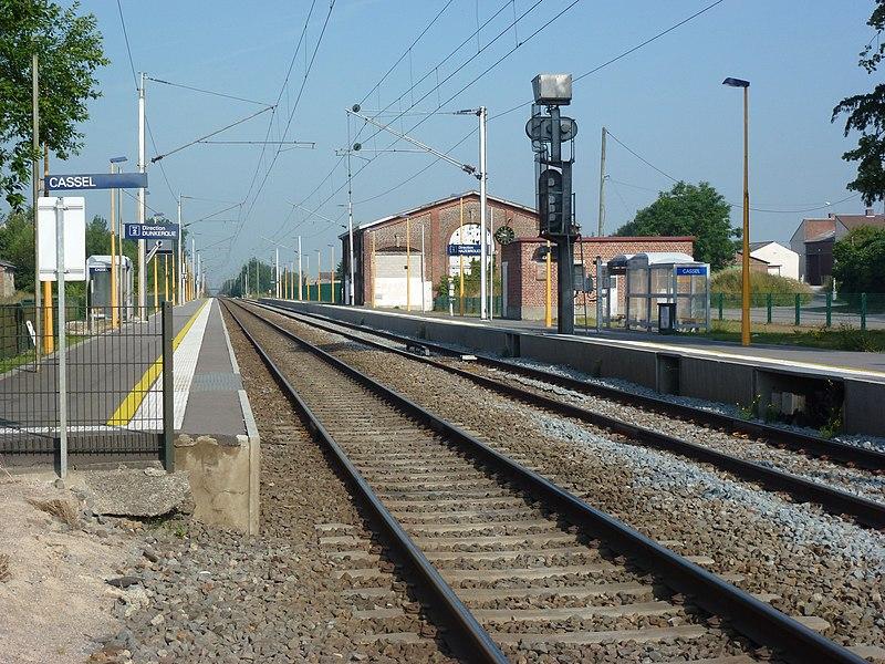 Bavinchove - Oxelaere (Nord, Fr) gare de Cassel
