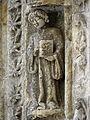 Bazas (33) Cathédrale Saint-Jean-Baptiste Façade ouest Portail central 3ème voussure 06.JPG