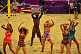 Beach volleyball dance display at London 2012 (7725409522).jpg