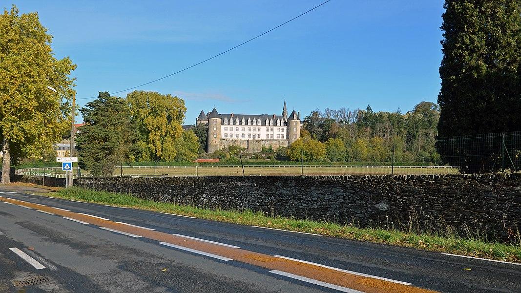 Castle, now flats - Beaupréau, Maine-et-Loire, France