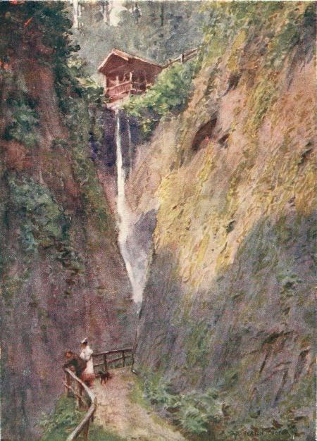 Beautiful Britain - The Isle of Wight - by G.E. Mitton - 1 SHANKLIN CHINE