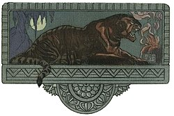 Shere Khan. Illustration de Maurice de Becque, 1924.