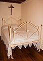Bed in the Rosalía de Castro Museum in Iria Flavia, Padrón, Galicia, Spain.jpg