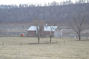 National Register of Historic Places listings in Bedford County, Pennsylvania - Image: Bedford County Alms House barn