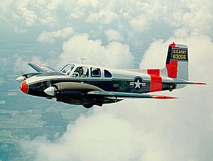 Beechcraft U-8D Seminole US Army in flight.jpg