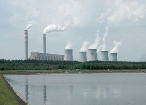 Fossil fuel power station - The 5,400 MW Bełchatów Power Station in Poland – one of the world's largest coal-fired power stations.