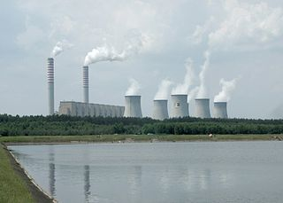 Fossil fuel power station Facility that burns fossil fuels to produce electricity