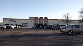 Belk - One of the earliest prototype 1960s-era stores to feature the trademark Belk arches, Southgate Mall, Elizabeth City, NC.