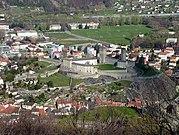 Bellinzona Castelgrande von oben