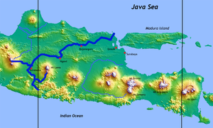 Solo River - Image: Bengawan Solo topography map