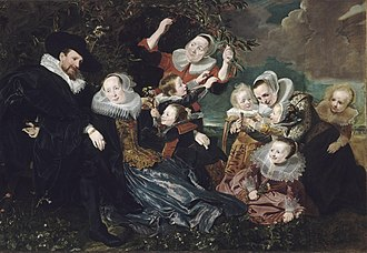 Claes van Beresteyn - Claes van Beresteyn painted in an extra attachment on the right (c. 1635) in a group portrait of the Beresteyn family from 1630