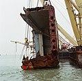 Berging kruiplijn Coaster Susanne in de Westerschelde door de firma Smit tak ID52520.jpg
