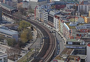Berlin Stadtbahn - Stadtbahn seen from the Park Inn Berlin, near station Hackescher Markt