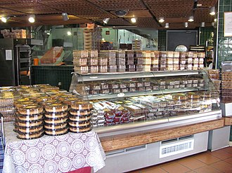 Berman's Bakery - Cakes and pies on display at the Berman's Bakery retail store in Givat Shaul.