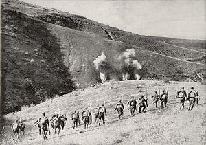 Monastir Offensive - Bulgarian infantry attack in the Monastir area.