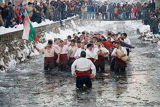Kalofer - Kalofer is known in Bulgaria for the traditional Bulgarian all-male horo danced in the ice-cold river on Epiphany