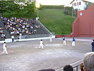 A game of Basque pelota in play