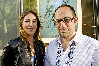 Seattle International Film Festival - Film director Kathryn Bigelow with SIFF Artistic Director Carl Spence – Photo by Matt Daniels
