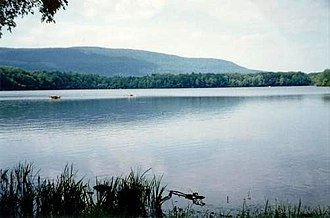 Big Pocono State Park - Camelback Mountain (site of Big Pocono State Park) from Mt. Spring Lake