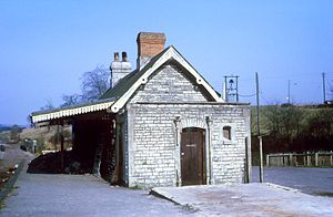 Binegar railway station - Three years after the line closed