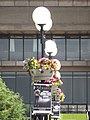 Birmingham Central Library - now closed - floral displays on lampposts (9321054025).jpg