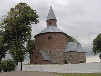 Round church - Image: Bjernede Kirke