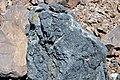 Black smoker rocks (sulfidic wad) (Helen Iron-Formation, Neoarchean, 2696-2749 Ma; Sir James Pit, Eleanor Iron Range, Ontario, Canada) 13 (48069970647).jpg
