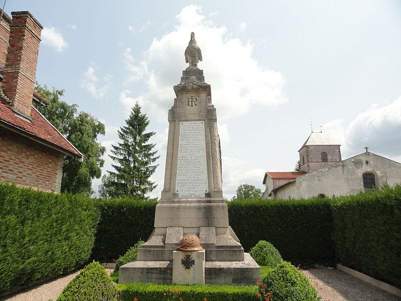 Le monument aux morts de la Première Guerre mondiale de Blacy.