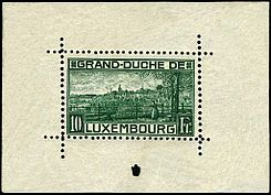 Block of Luxemburg, 1923.scott 151.JPG