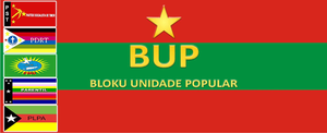 Bloku Unidade Popular - Flag of the BUP until 2016