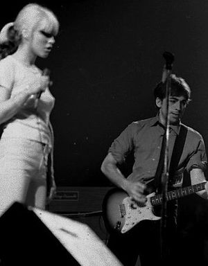 Marquee Moon - In support of Marquee Moon, Television toured the United Kingdom with Blondie (band members Debbie Harry and Chris Stein pictured in 1977).