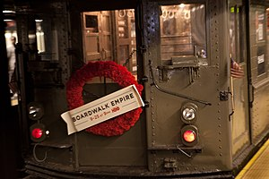 Boardwalk Empire - IRT LoV car 5443 advertising Boardwalk Empires second season
