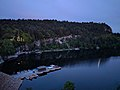 Boat dock at dusk from Mohonk Mountain House.jpg