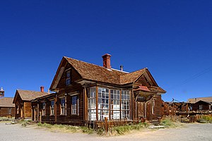 National Register of Historic Places listings in Mono County, California - Image: Bodie ghost town edit 1
