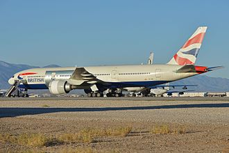 British Airways Flight 2276 - The aircraft at Victorville in February 2016