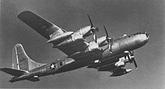 Boeing B-50 Superfortress - B-50D-90-BO (48-086) with R-4360 engine differences visible