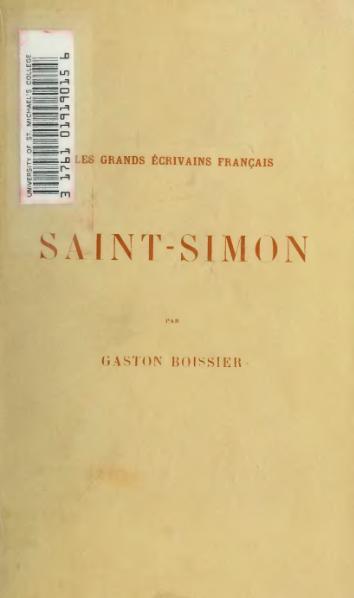 File:Boissier - Saint-Simon, 1892.djvu