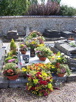Romy Schneider - Grave of Romy Schneider and her son in Boissy-sans-Avoir