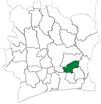 Bongouanou Department - Bongouanou Department upon its creation in 1980. It kept these boundaries until 2009, but other subdivision boundary changes began to be made in 1988.