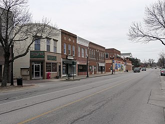 Boonville, Missouri - Buildings in downtown Boonville